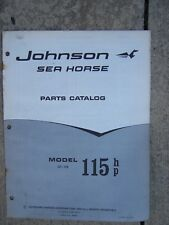 1968 Johnson Sea Horse 115 HP Model GT-10S Outboard Motor Parts Catalog  L