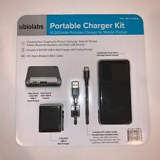 UbioLabs Portable Charger Kit 10,000 mAh Portable Charger for Mobile Phones