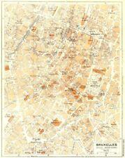 BELGIUM. Bruxelles 1953 old vintage map plan chart