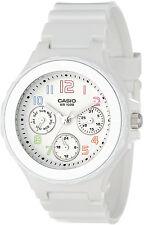 Casio LRW250H-7B Womens White Analog Watch 3 Dials Neo Date Display New