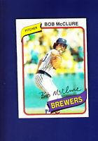Bob McClure 1980 TOPPS Baseball #357 (NM) Milwaukee Brewers