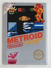 Metroid FRIDGE MAGNET (2.5 x 3.5 inches) video game box nes samus aran