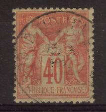 LOT TIMBRE DE FRANCE SAGE N° 94 OBL DJIDJELLI (ALGERIE) TTB RARE