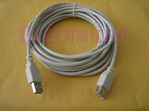 15Ft Premium USB 2.0 Type A Male to Female Extension Shielded Cable Beige 15 Ft