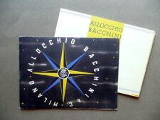 Catalogo Industriale Allocchio Bacchini & C. Milano Radio Balilla 1938