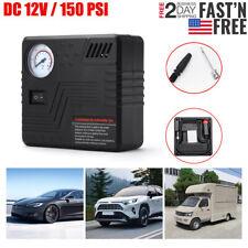 Tire Inflator Car Air Pump Compressor Electric Portable Auto Dc 12V 150Psi Black