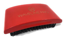 360 Wave Curve Brush Beard Brush Waveline Pro Hard Bristles Red Palm Handle
