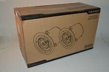 "Atlas Sound FAP42T Coaxial Ceiling Speaker System 4"" 2 Way Pair New in Box Black"