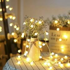ELectric EU Plug 10M 100LED Berry Ball Xmas Bulb Fairy String Lights Outdoor/In