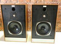 Pair Of Mordaunt Short Pageant Vintage Hi Fi System Use Bookshelf Loudspeakers