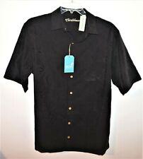Roundtree Yorke Caribbean Camp Shirt Black Tall 2XT Short Sleeve NWT (RYC226)