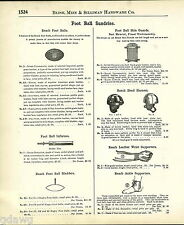 1908 ADVERT Reach Brand Football Leather Helmet Head Harness Reed Shin Guard