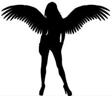 "LARGE 23"" car bonnet side sticker sexy angel wings girls vinyl decal wall art"