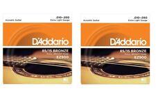 OFFERTA 2 SET MUTA CORDE D'ADDARIO EZ900  Bronze 010/050 CHITARRA ACUSTICA FOLK