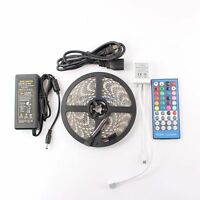 5m 16.4ft RGBWW RGB +Warm White LED Strip Light + 40Keys Remote + 60W Power kits