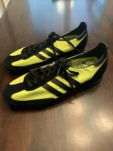 Adidas Men's SL 72 S29245 Black and Solar Yellow Shoes Size 8 New No Box
