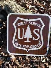 US Forest Service National Park. Reflective metal sign FREE SHIP
