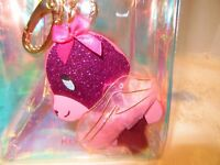 Betsey Johnson Pink Tutu Bear Keychain Iridescent Zip Pouch 60% OFF