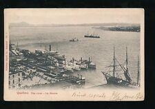 Canada QUEBEC Le Fleuve River Paddle Boats + tall sail ship u/b Used 1904 PPC