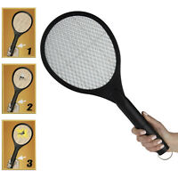Hand Held Bug Zapper Insect Mosquito Killer Battery Electric Swatter Racket Blac
