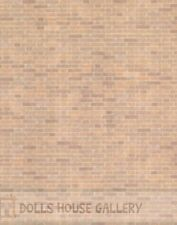 24th Scale Red Brick Wall Paper, Dolls House Miniature, Doll House DIY 1.24Scale