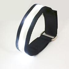 Elegante BIANCO LED LAMPEGGIANTE SICUREZZA Running Outdoor Sports Cinturino Banda riflettente