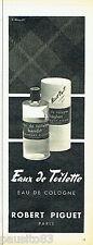 PUBLICITE ADVERTISING 016  1956  Robert Piguet eau de toilette Bandit Baghari
