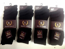 12 pairs  mens Cotton Rich dress  Socks work  men  gents size 6-11 , black (RL)