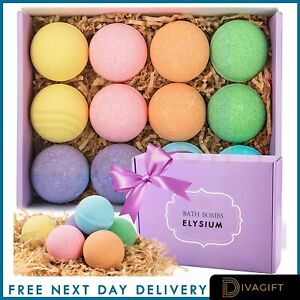 Elysium Spa Luxurious Bath Bombs Salt Relaxing Pamper Vanilla Ocean Coconut Rose