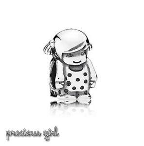 Pandora Genuine ALE 925 Silver Precious Girl Charm 791531 retired B37