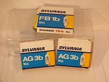 Lot ampoules pour flash photographique - Sylvania AG3b et FB1b