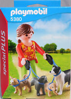 Playmobil Special Plus 5380 Hundesitterin Dogge Retriever Chihuahua Collie NEU