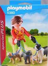 Playmobil Special Plus 5380 Hundesitterin Dogge Retriever Chihuahua Collie NEU