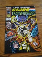 000 VTG G.I. Joe and the Transformers Comic Book #3 March 1987 Marvel Nice Cond