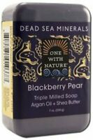 Dead Sea Mineral Bar Soap by One With Nature, 7 oz Blackberry Pear