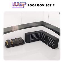 Circuit Routier Électrique Garage Fosse Scène - Jeu D'Outils 5 Pièces Noir 1