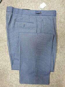 D2 Mens Navy Pinstripe Wedding Evening Morning Masonic Suit Dress Trousers