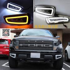 White LED Daytime Running Light For Ford F150 Raptor SVT DRL 2010-2014 Fog Lamps
