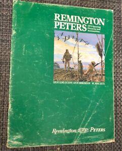 REMINGTON PETERS VINTAGE  CATALOG 1972