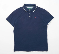 Tommy Hilfiger Mens Size S Cotton Blue Polo Shirt