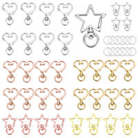 Lot 50/100pcs Lobster Clasps Swivel Clips Bag Key Ring Hooks Findings Keychain