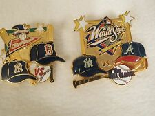 NEW YORK YANKEES 1999 WORLD SERIES AND  AL CHAMPION SERIES PINS OMLB PRODUCT