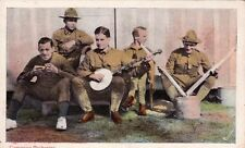 Carte postale ancienne ETATS-UNIS USA U.S. ARMY compagny orchestra