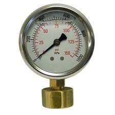 Holman Water Pressure Gauge Stainless Steel Fluid Filled Measure High Quality