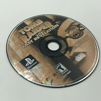 Tomb Raider: The Last Revelation Disc Only Sony PlayStation Black Label Game