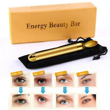 24k Gold Energy Beauty Bar Facial Eye Roller Massager Vibration Anti Aging Wrink