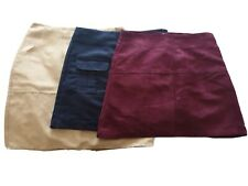 3 x Faux Suede Mini Skirts 8
