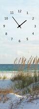 Wanduhr Glasuhr Strand Meer Dünen  20 cm X 60 cm Art. 772060000006