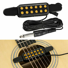12 Hole Sound Pickup Microphone Amplifier Speaker For Acoustic Guitar Accessory