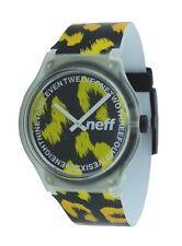 Neff Clear Cheetah Print Analog Quartz Wrist Watch NF0218